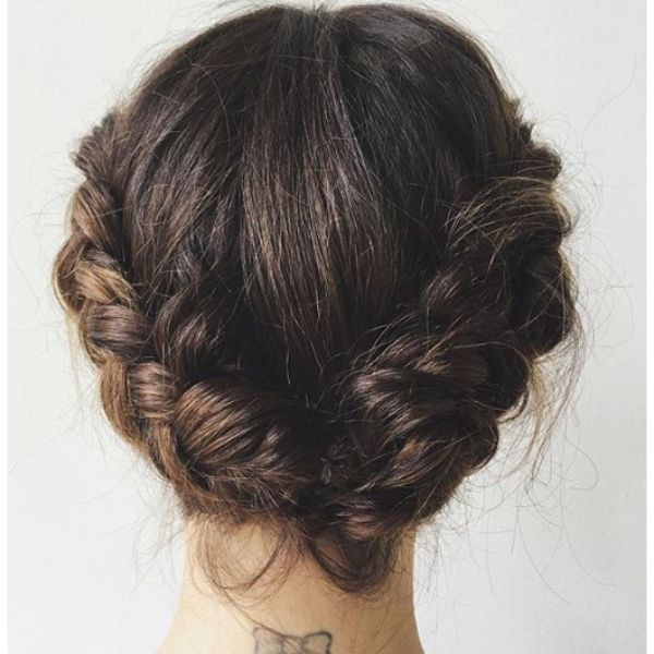 Crown Braid Low Updo