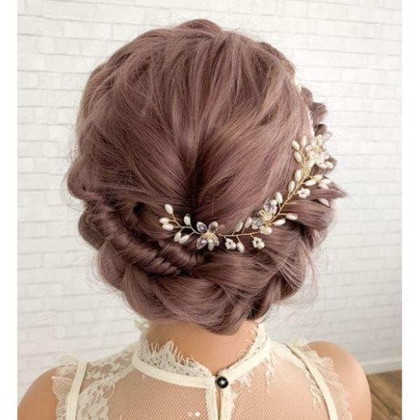 Crown Updo with Head Accessory