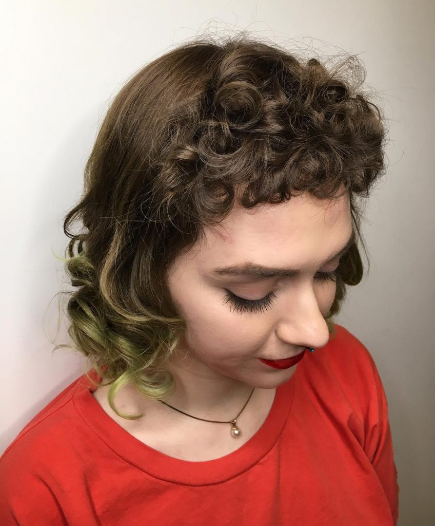 Curly Pin-up Bangs