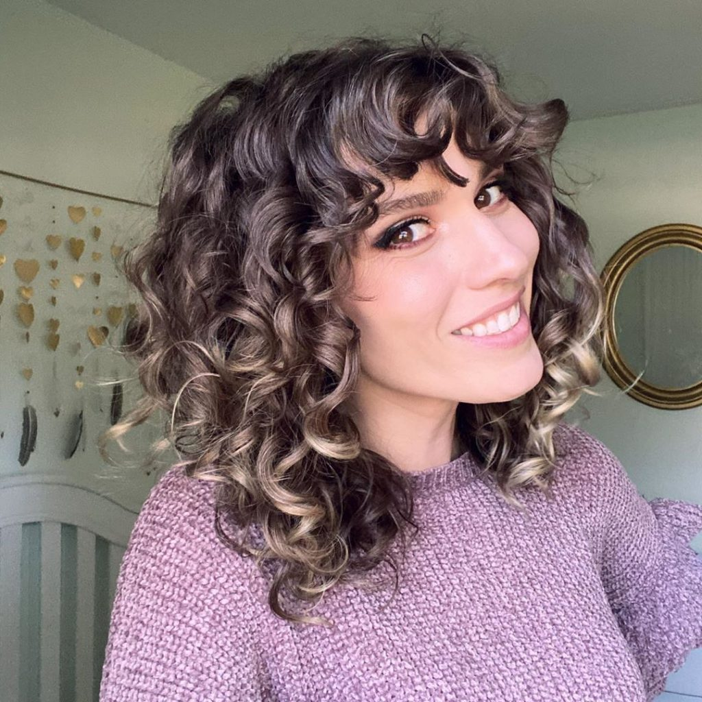Cute Curly Fringe for Curly Hair