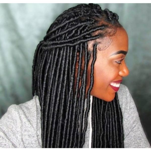 Faux Locks Hairstyle for Damaged Hairstyle
