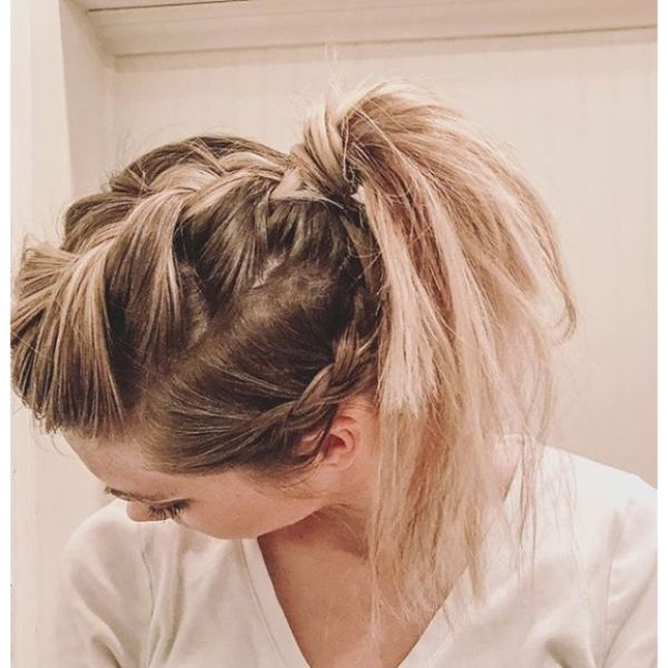 Funky Triple braided Ponytail