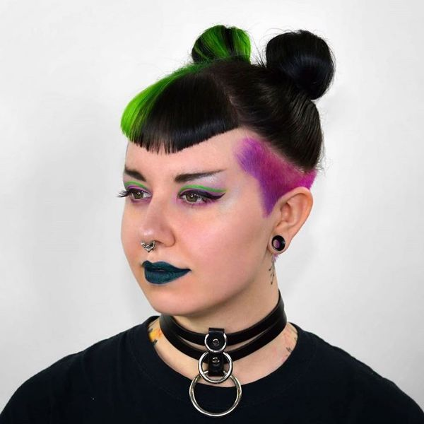Grunge Style Curved Bangs