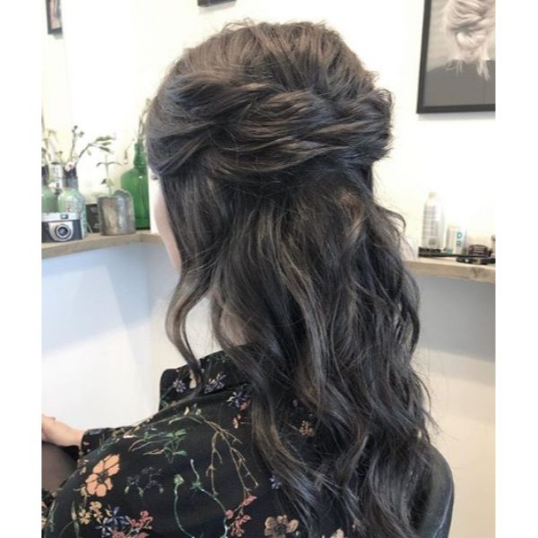 Half Up Half Down Bridal Updo