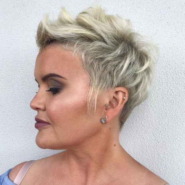 Messy Blonde Pixie Cut