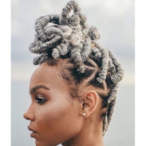 Messy Knot with Triangle Faux Locks