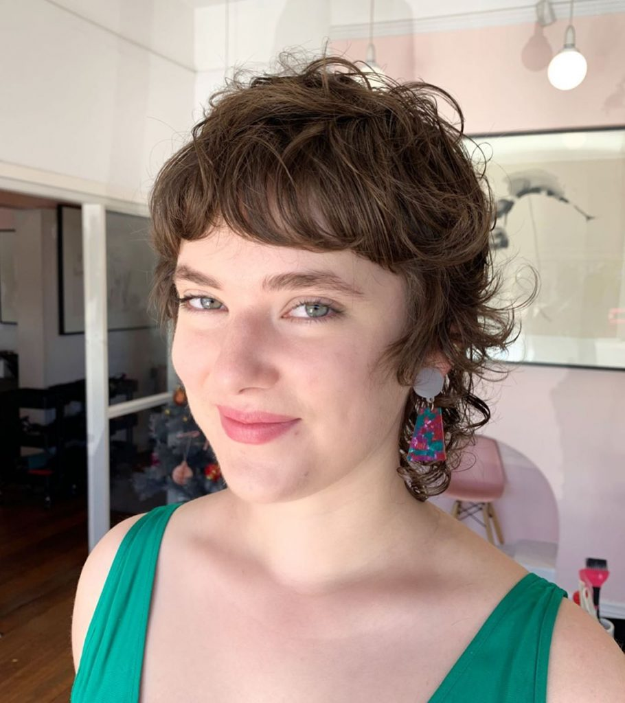Natural Curls Fringe for Short Hair