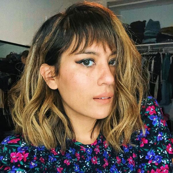 Piecey Bangs for Balayage Hair