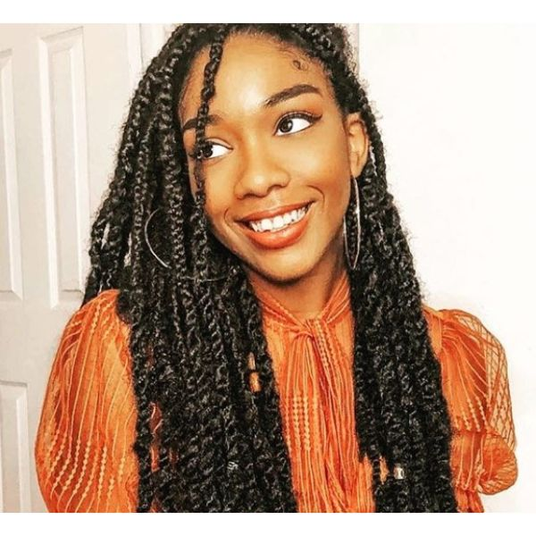 Protective Hairstyle with Braids