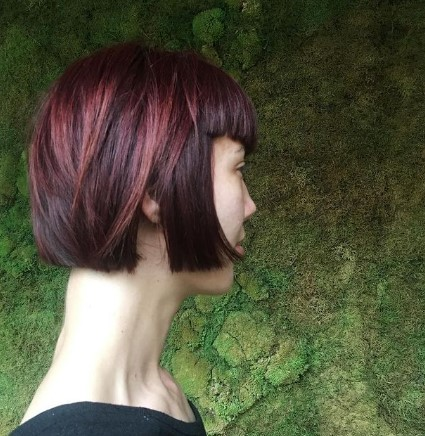 Short Bob With Chopped Bangs Hairstyles For Damaged Hair