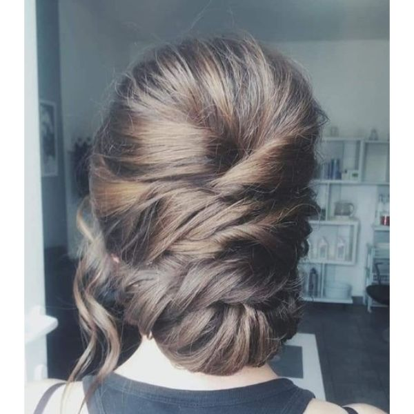 Stylish Glam Bridal Updo