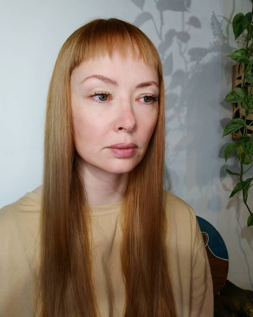 Textured Baby Bangs For Straight Hair