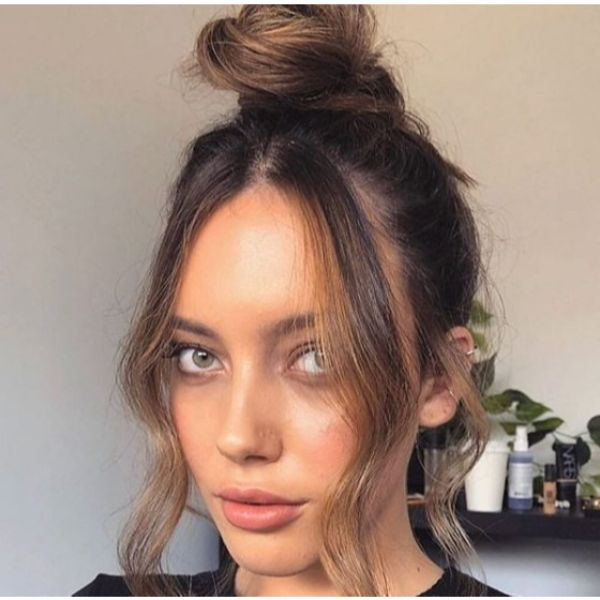 Top Knot Updo with Falling Strands