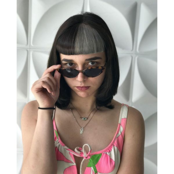 Two Colored Retro Bangs