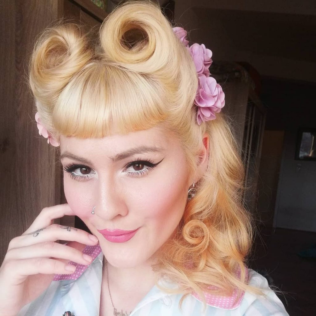 Victory Rolls Fringe for Blonde Hair