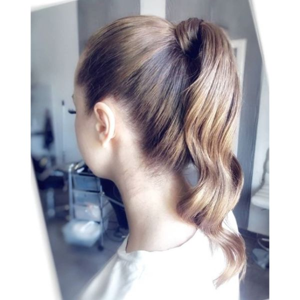 Wavy Sleek High Ponytail