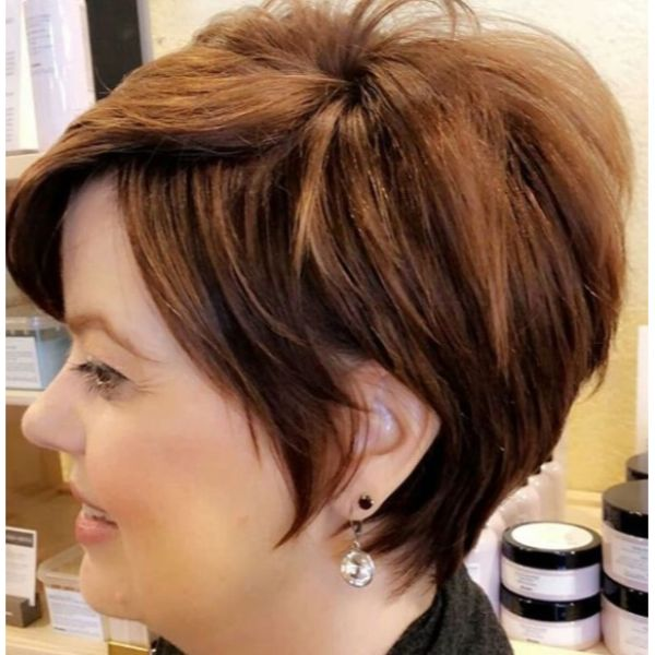 Brown Textured Layered Short Haircuts For Women