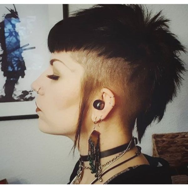 Gothic Mullet Spiky Haircuts For Women