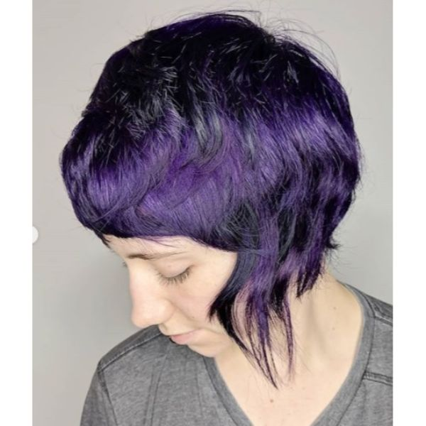 Midnight Vixen Purple Shag Short Haircuts For Women