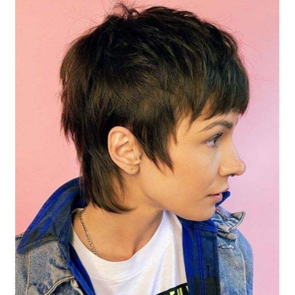Overall Short Mullet Haircut