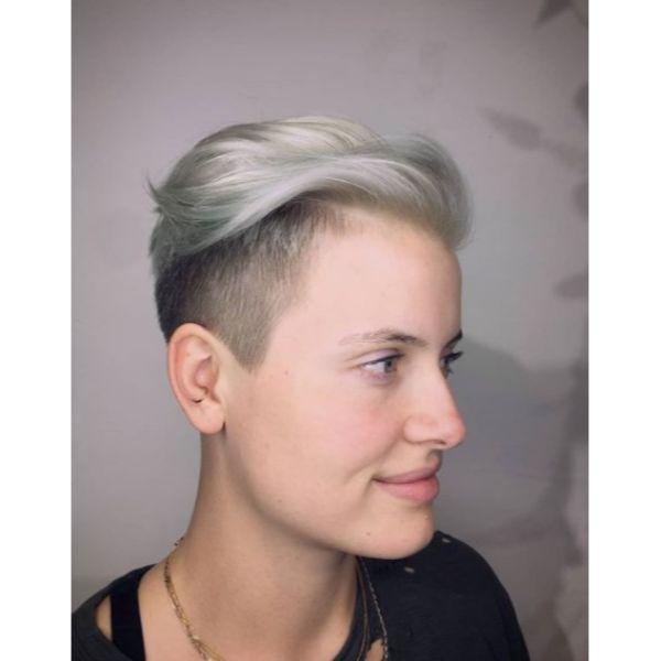Platinum Silver Undercut with Soft Top