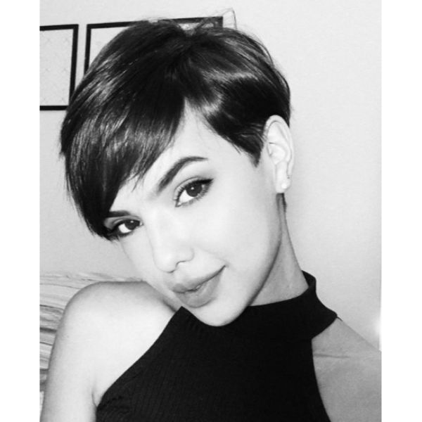 Short Taper Pixie Cut