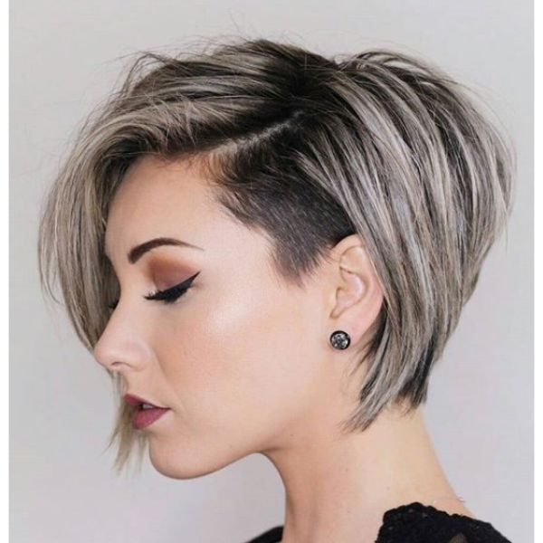 Side Shaved Ultra-short Bob Cut