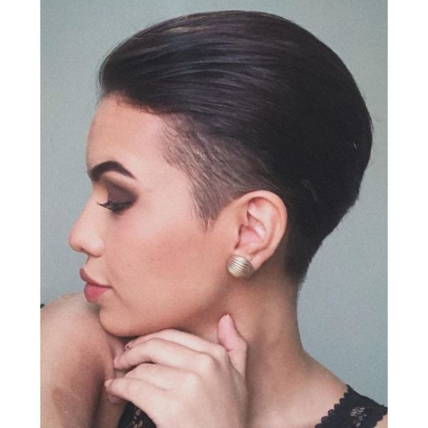 Slicked Back Pixie Cut
