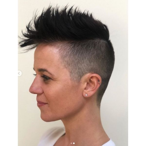 Spiky Faux Hawk Undercut
