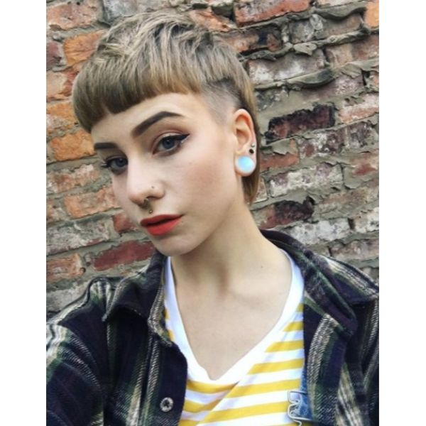 Ultra-short Mullet with Undercut