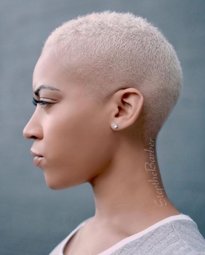 Bald Fade Shaved Hairstyles For Black Women