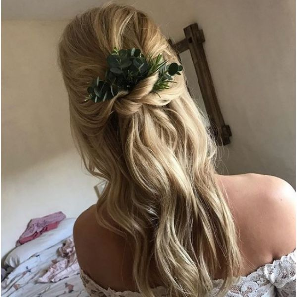 Beach Waves and Twists Bridal Hairstyles