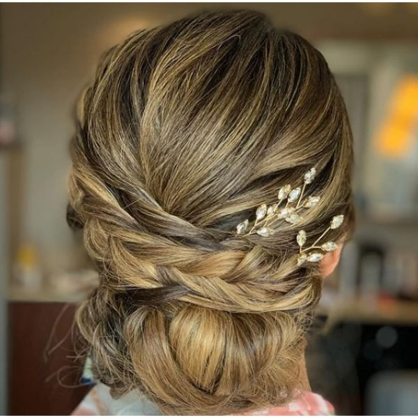 Braided Updo with Golden