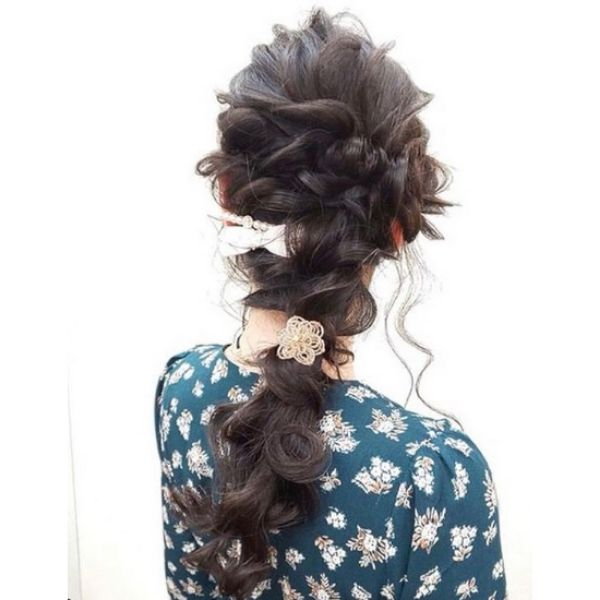Braided Wedding Hair with Messy Strands Bridal Hairstyles