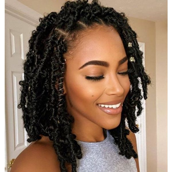 Comb-Twists with Hair cuffs Hairstyle