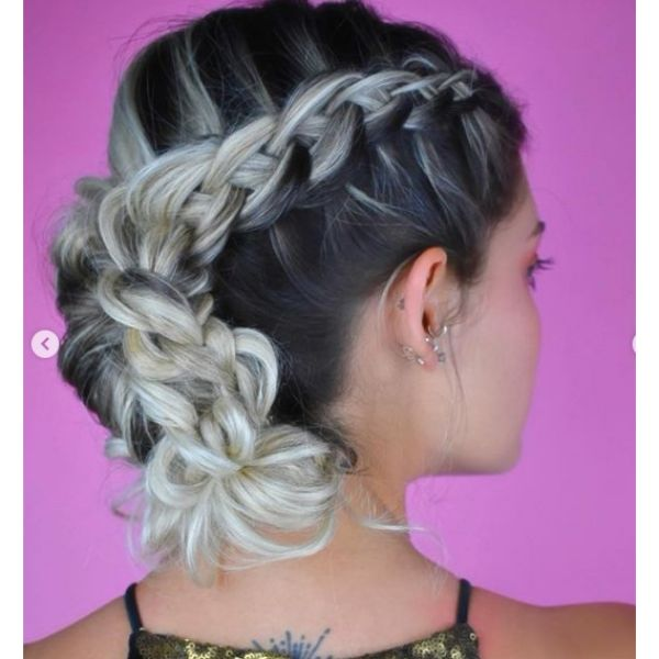 Dragon Braid with Twisted Hairstyle