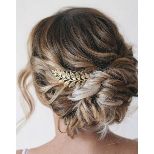 Greek Inspired Updo With Long Strands