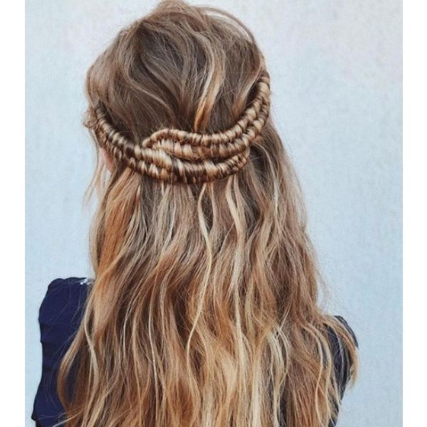 Half Up-do with Infinity Braids Hairstyle Bridal Hairstyles
