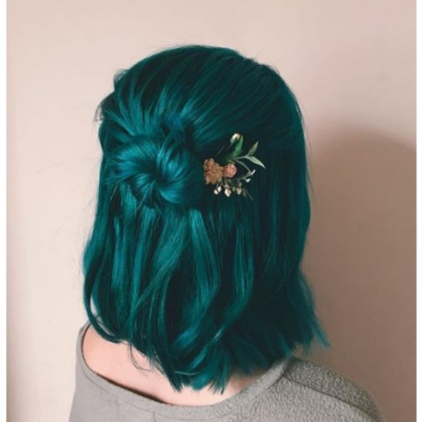 Half-knot with Mermaid Hairstyle