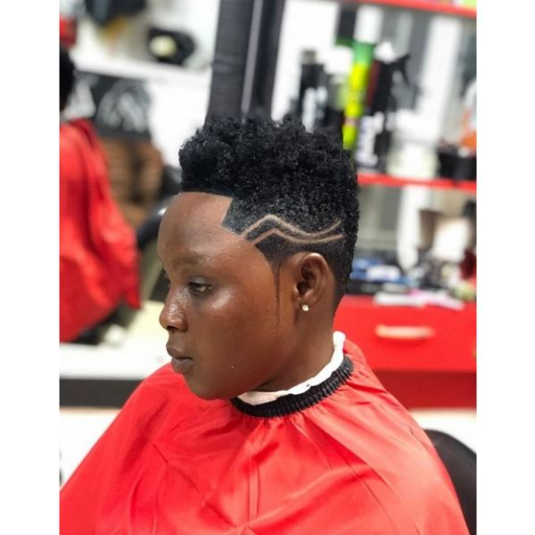 Hi-Top Hairstyle with Shaved Sides