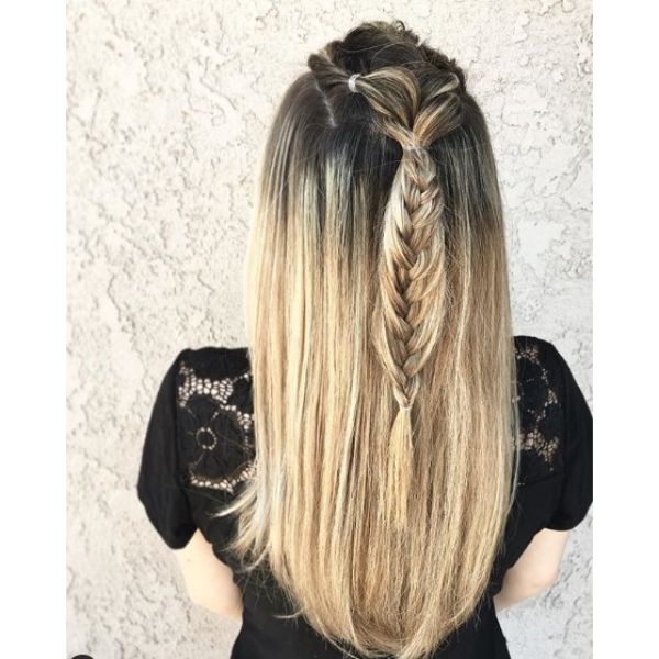Long Dark Blonde Easy Hairstyles for School
