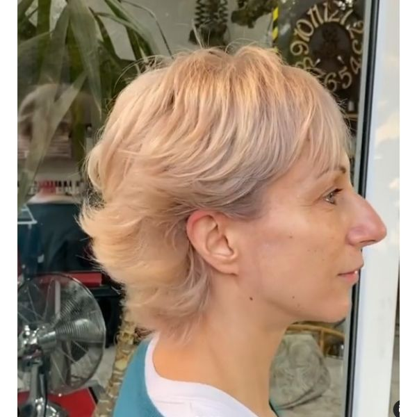 Long Pixie Cut with Feathered Layers