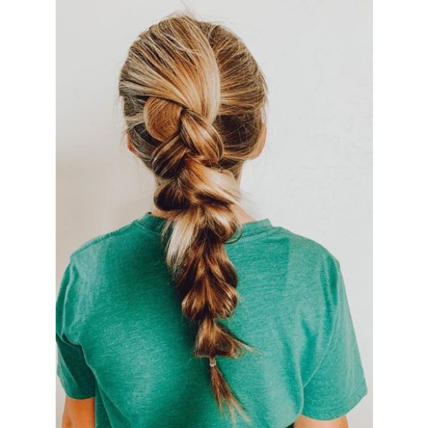 Messy Faux French Braid Easy Hairstyles For School