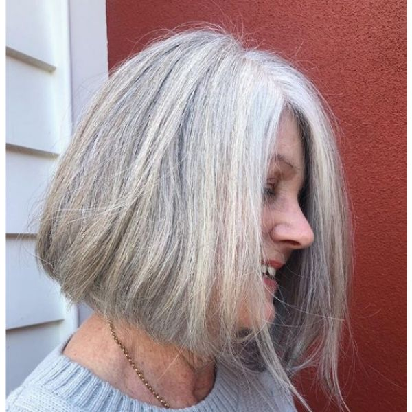 Pepper Grey Bob Hairstyle