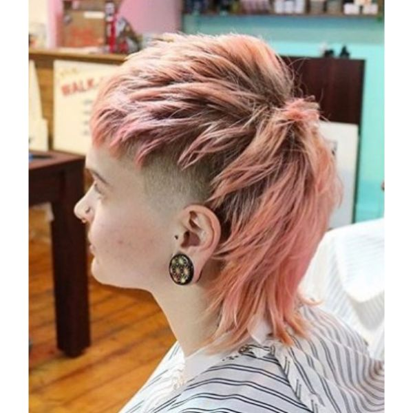 Pink Mullet Hairstyle