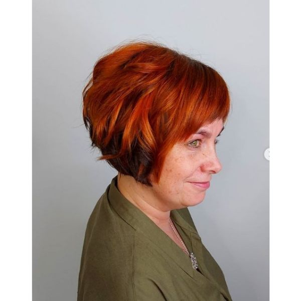 Pumpkin Spice Curly Bob