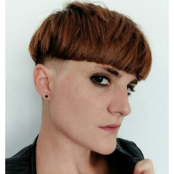 Punk Bowl Cut with Razored Sideburns