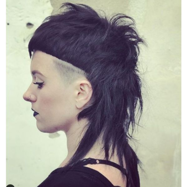 Punk Mullet Hairstyle with Messy Styling