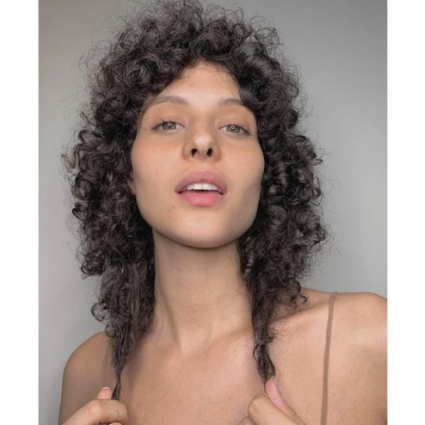 Shaggy Curly Mid Length Hairstyles