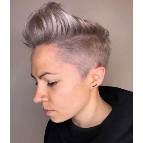 Short Mohawk with Shaved Sides Hairstyle